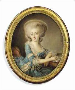 Miniature by Vestier of Madame de Montesson