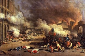 Attack upon Palais des Tuileries on August 10th, Courtesy of Wikipedia