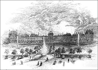Tuileries Palace in the 1700s.