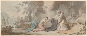 Religious Scene with Figure Receiving the Habit. A Water-color Perhaps Slated For One of Prudhomme's Publications, Courtesy the Morgan Museum and Library