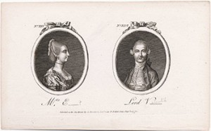 Histories of the Tête-à-Tête annexed; or, Memoirs of L__ V___ and Mrs. E___t from the Town and Country Magazine, August 1774. © Lewis Walpole Library