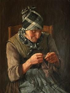 Tricoteuse by John Francqueville