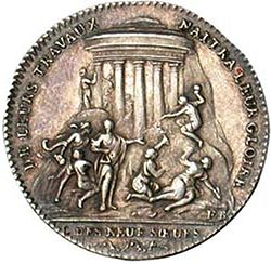 "A Token from ""Les Neuf Sœurs"" (1783), Courtesy of Wikipedia"