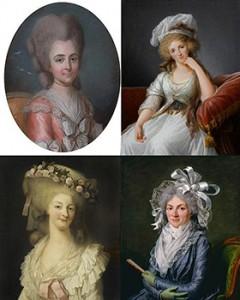 Duchess of  Bourbon, Duchess of Chartres, Princesse de Lamballe, and Madame de Genlis, Pubic Domain