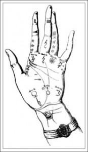 The Left Hand of the Empress Joséphine According to Palmistry, Public Domain