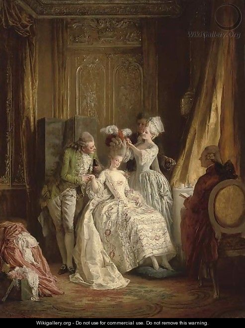 Marie Antoinette's daily schedule - getting her hair dressed