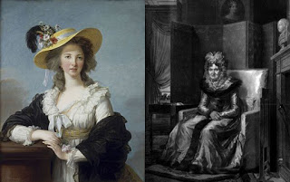 (Left to right) Duchesse de Polignac and Madame de Tourzel, Public Domain
