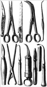 Various Tools From the 1728 Version of Le Chirurgien Dentiste, Author's Collection