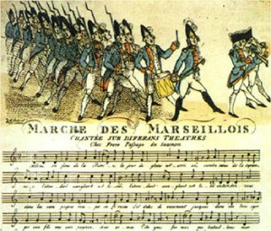La Marseillaise in 1792, Courtesy of Wikipedia