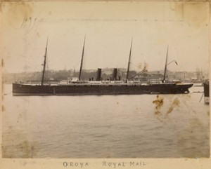 The Royal Mail Ship Oroya, Circa 1892, Photo by Charles Bayliss, Courtesy of State Library of Victoria