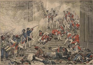 Face-off between Insurgents and the Swiss Guards - Reine Audu post