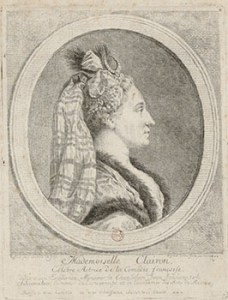 Mademoiselle Clairon as Celebrated Actress of the Comedie-Française, Courtesy of Bibliothèque nationale de France