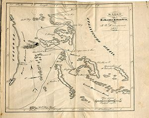 Map of the Route Through the Bahamas, Courtesy of Collectie Tresoar