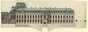 Palace of Fontainebleau Elevation, Courtesy of Galllica at Bibliothèque