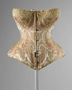 French Corset of Silk, 1891, Courtesy of the Met Museum