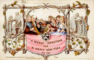 Christmas Cards: The First Commercially Produced Christmas Card, Designed by John Callcott Horsley for Henry Cole