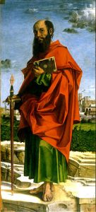 Heavenly Visitors in the 1700s: Saint Paul by Bartolomeo Montagna