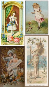 Victorian Christmas Cards Showing Children, Author's Collection
