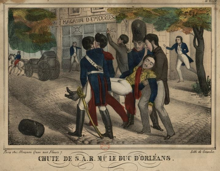 Carrying the injured Ferdinand Philippe, Duke of Orléans