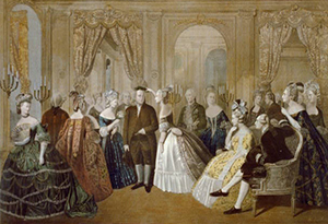Franklin's poplarity with French women included the princesse de Lamballe