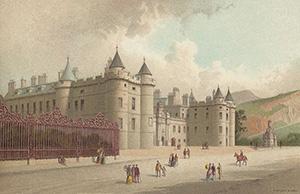 Scottish palace of Holyrood