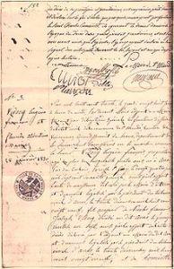 Eugène François Vidocq - marriage certificate