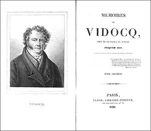 Eugène François Vidocq - title page of his memoires