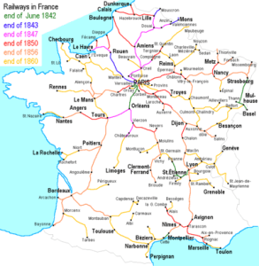 19th Century French Etiquette - railway network