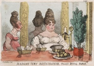Palais-Royal restaurants - Caricture by Thomas Rowland