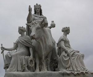 Europe sculpture on the Prince Albert memorial.