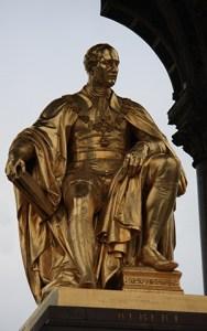 Prince Albert memorial showing Prince Albert seated.