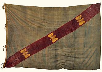 Importance of bees to Napoleon - Elba flag.