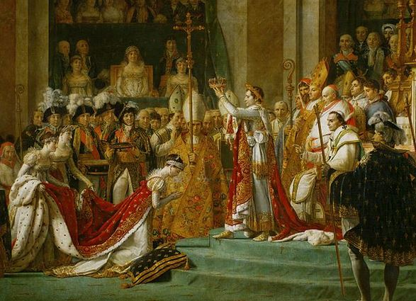 Importance of bees to Napoleon shown in the detail of his coronation.