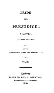 Jane Austen - Pride and Prejudice title page