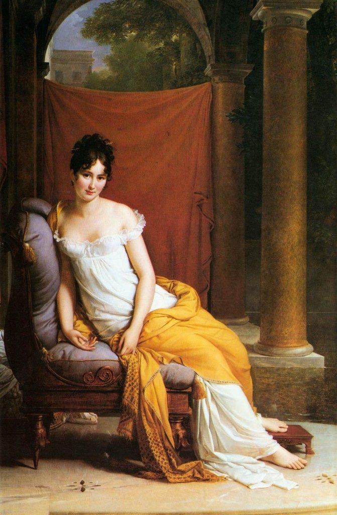 Socialite Madame Récamier by François Gérard