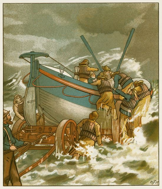 11 June 1880 tragedy showing example of lifeboats being sent out to help survivors