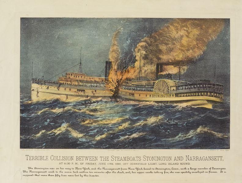 11 June 1880 tragedy between SS Stonington and SS Narragansett
