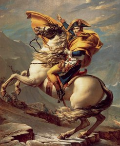 "Napoleon Bonaparte portraits - David's ""Napoleon Crossing the Alps."""
