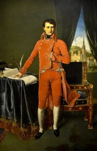 Napoleon Bonaparte portraits - Bonaparte, First Consul by Ingres