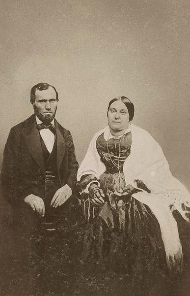 Allan Pinkerton and his wife, Joan Carfrae.