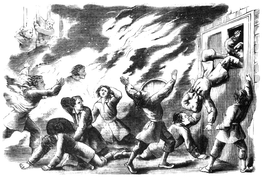 revolt at Levant penitentiary with the storehouse set on fire.