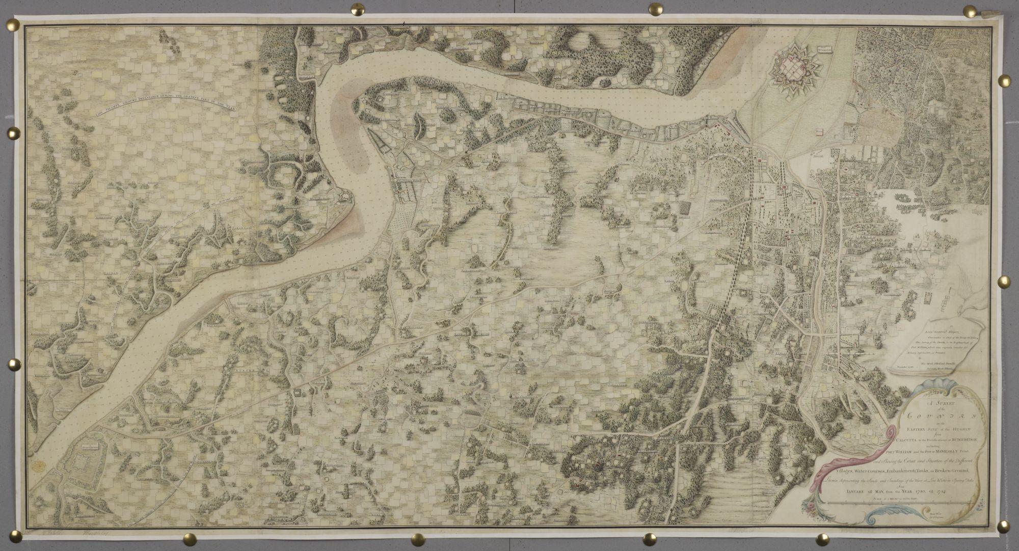 18th century Calcutta survey