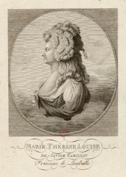 Princesse de Lamballe portraits - engraving