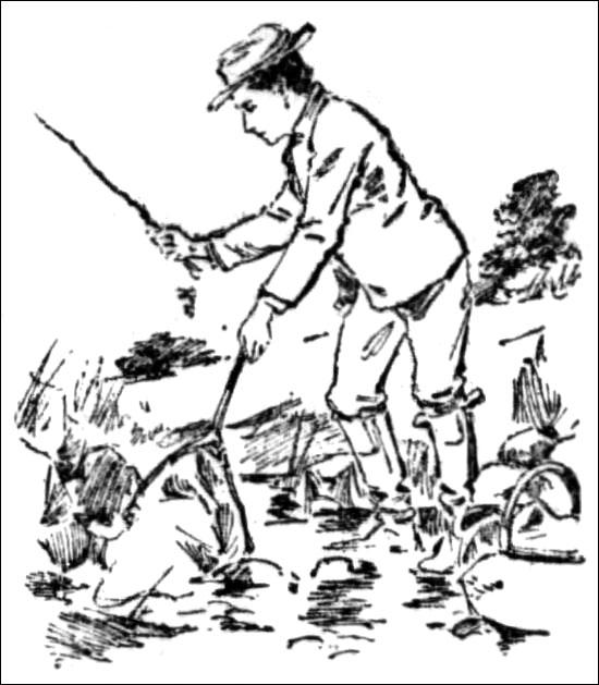 Jeanne Bonnet catching frogs