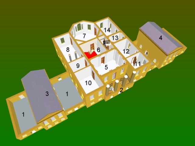 Basildon Park - Bottom floor layout