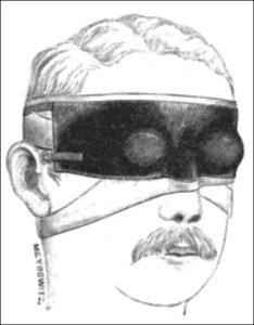 masks in the 1800s - Ring's ocular mask