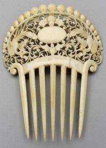 Decorative hair combs - French 1881
