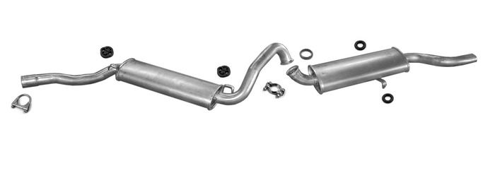 Exhaust system for Audi 80 1.6 1.8 1.9 2.0 2.2 GLE TD GT