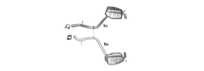 Auspuff Mercedes E500 E500T S211 W211 5.0 Endschalldämpfer