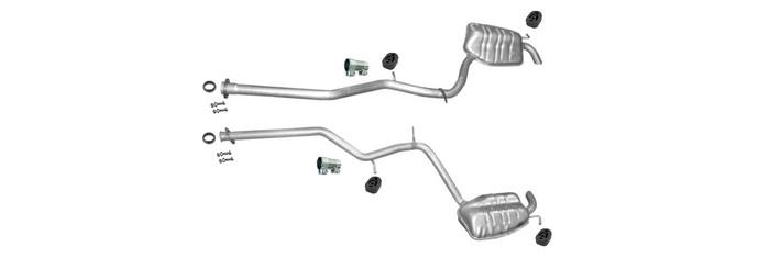 Endschalldämpfer für Mercedes E270 E280 E320 S211 W211 2.7